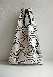 Nákupné tašky - Nákupná taška (Čierno-biela) - 10098063_