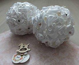 Dekorácie - Luxusné vianočné gule v bielom - 10098026_