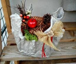 Dekorácie - Aranžmán Vianočná vôňa lesa - 10097452_