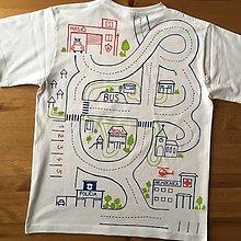 Oblečenie - Maľované pánske tričko pre unaveného ocka, ktorý sa chce aj tak hrať - 10098224_