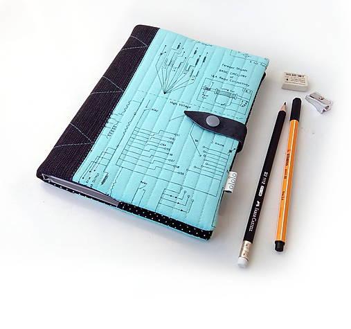 Zápisník Technická schéma - A5
