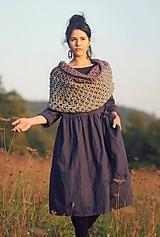 Šaty - Lněné zavinovací Indigo - 10097112_