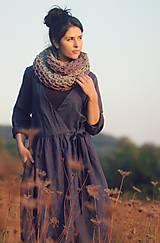 Šaty - Lněné zavinovací Indigo - 10097113_