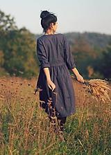 Šaty - Lněné zavinovací Indigo (M) - 10097114_