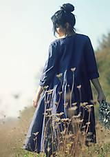 Šaty - Lněné zavinovací Indigo - 10097115_