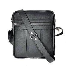 Tašky - Kožená taška SPORT2 - L(čierna) 26 x 23 x 6 cm - 10102501_