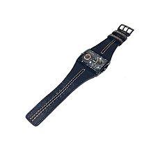 Doplnky - Kožený remienok na hodinky - 10102550_