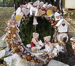 Dekorácie - rozprávka vianoc ... venček - 10099621_