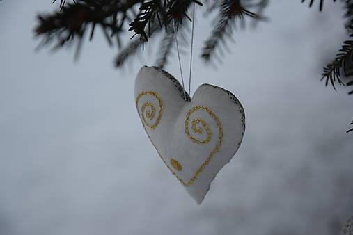 vianočné folk srdiečko - ozdoba