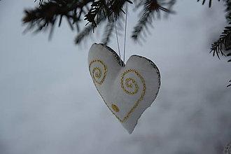 Dekorácie - vianočné folk srdiečko - ozdoba - 10103489_