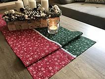 Úžitkový textil - vianočné štóly červeno - zelený vzor  140 x 40 cm - 10101102_