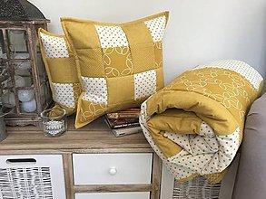 Úžitkový textil - Moderná žltá kombinácia - 10103681_