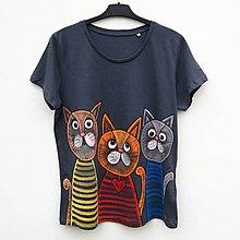Tričká - Dámské tričko Kočky v triku - 10098957_
