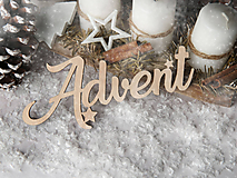 Dekorácie - Výrez Advent - 10103428_