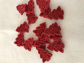 Polotovary - Filcové stromčeky červené - 10100609_