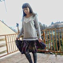 Šaty - Sivé šaty mikinové- zľava zo 16,50 - 10101026_