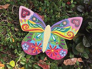 Dekorácie - Dekoratívny motýľ - 10101381_