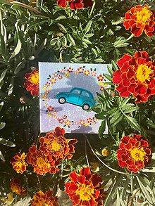 Magnetky - Chrobáčik v modrom - 10101534_