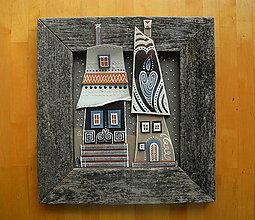 Obrazy - Zimné domy - 10099485_