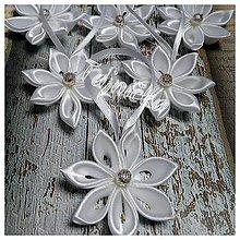 Dekorácie - Biele vianočné ozdoby 10 ks - 10101938_