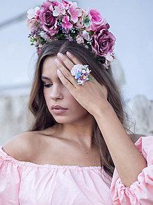 Prstene - Kvetinový prsteň - 10099832_