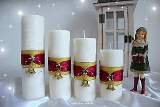 Svietidlá a sviečky - Adventné sviečky - 10102097_