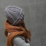 Čiapky - dámska čiapka na zimu SILVER - 10102979_