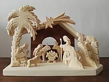 Dekorácie - Betlehem drevený s palmou veľký - 10099116_