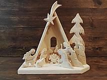 Dekorácie - Betlehem drevený vysoký - 10100505_
