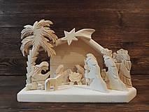 Dekorácie - Betlehem drevený s palmou malý - 10100671_