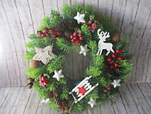 Dekorácie - Vianočný veniec - 10102906_