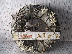 Dekorácie - Vianočný veniec - 10103115_