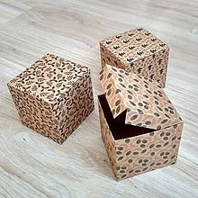Obalový materiál - Krabička kraft 8,5x9x9cm - 10099338_