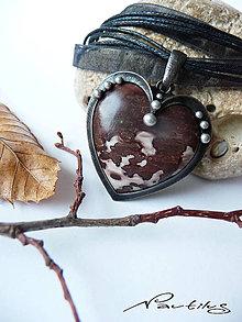 """Náhrdelníky - Srdce jednej """"Holky z porcelánu"""" - 10100590_"""