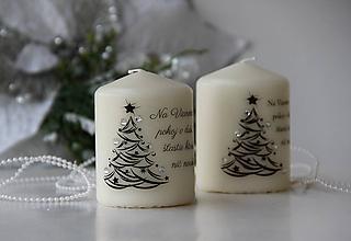 Svietidlá a sviečky - Duo vianočných sviečok III. - 10098706_