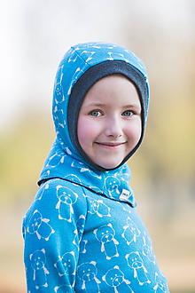 Detské čiapky - KUKLA 100% merino zimní OBOUSTRANNÁ dvojitá - 10100387_