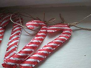Dekorácie - vianočné filcové paličky- lízatká - 10102134_