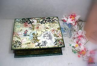 Krabičky - drevená šperkovnica Šťastie - 10100848_
