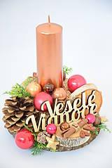 Svietidlá a sviečky - Vianočný svietnik - 10103025_