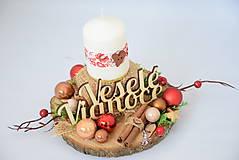 Svietidlá a sviečky - Vianočný svietnik - 10103152_