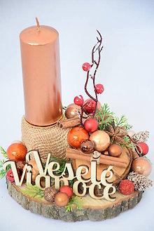 Svietidlá a sviečky - Vianočný svietnik - 10103138_