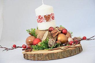 Svietidlá a sviečky - Vianočný svietnik - 10103228_