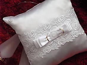 Úžitkový textil - Svadobné vankúšiky - 10102187_