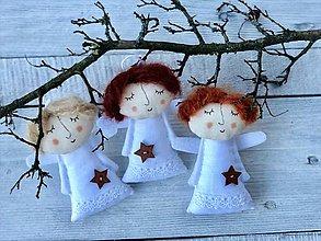 Dekorácie - anjelské trio - 10101865_