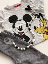 Detské doplnky - Retiazka na cumlík Mickey / Pacifier clip Mickey - 10103915_