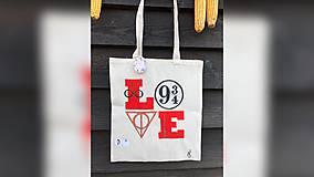 Iné tašky - ♥ Plátená, ručne maľovaná taška ♥ - 10102196_