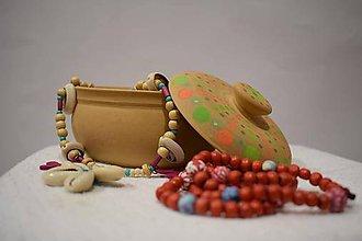 Krabičky - Ručne maľovaná kameninová šperkovnica - 10098759_