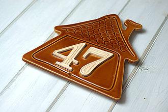 Tabuľky - Číslo domu z keramiky- domček - 10099119_