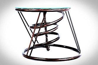 Nábytok - Konferenčny stolík s hodinami - 10103647_