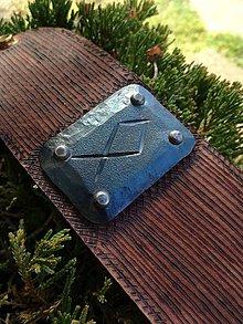 Náramky - Kožený náramok s runou Odal - 10101725_